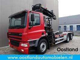 container truck DAF CF 75 360 euro3 6x2 / Fan Haakarm / Hiab 21T. meter kraan / AC / Cruise / 199... 2006