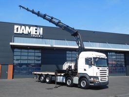 crane truck Scania R 480 8x2 HIAB XS 600E-8 2007