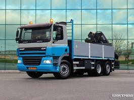 drop side truck DAF 85.340 EURO 3 MANUAL GEARBOX HIAB 166 E-3 HI DUO HOLLAND TRUCK 2005