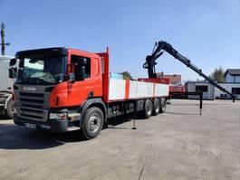drop side truck Scania P380 Tridem LB8X4*4 Airride + Hiab 288 EP5 XS 2008
