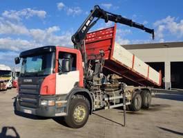 tipper truck > 7.5 t Scania P 380 CB 6X4 HHZ + HIAB 144 B3 + KIPPER 2009