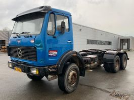 chassis cab truck Mercedes-Benz 2232 full steel suspension 6x4 big axels V10!!!!!!!!! 1979