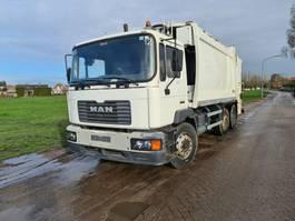 garbage truck MAN 6x2  euro2 Garbage Truck 2001