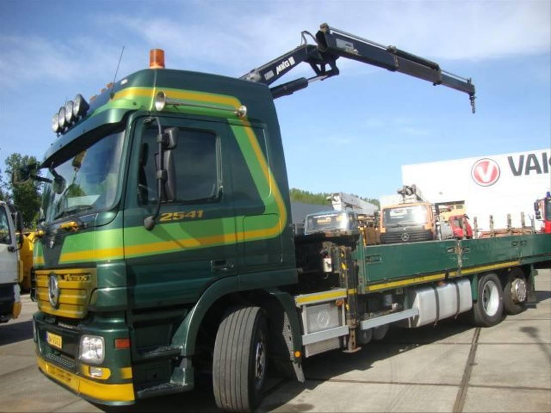 Pritsche offen LKW Mercedes-Benz ACTROS 2541meiler crane 19,5 ton 2009