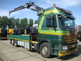 drop side truck Mercedes-Benz ACTROS 2541meiler crane 19,5 ton 2009