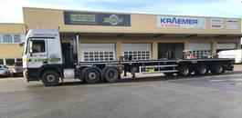 flatbed semi trailer Faymonville 3-Achs-Tele-Plateau-Auflieger zwangsgelenkt, zwillingsbereift