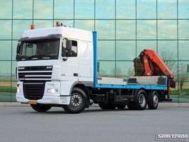 drop side truck DAF FAN XF 105.410 SC EURO 5 PALFINGER PK 20002 20 T/M 16.9 M CRANE 2007