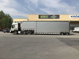 lowloader semi trailer Meusburger 2-Achs-Jumbo-Tiefbett mit Planenaufbau 2019