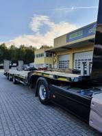 semi lowloader semi trailer Meusburger 3-Achs-Tele-Semi-Auflieger Bau