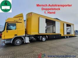 car transporter truck Mercedes-Benz 1840 Mersch Geschlossen Doppelstock 4 Fahrzeuge 2005