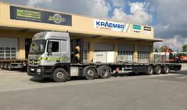 flatbed semi trailer HRD 3-Achs-Mega-Tele-Plateau-Auflieger 2015