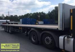 flatbed semi trailer HeavyTrailer 3-Achs-Plateau Standard