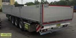 flatbed semi trailer HeavyTrailer 3-Achs-Plateau Baustoff
