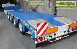 semi lowloader semi trailer Faymonville Maxtrailer 4-Achs-Tele-Semi-Auflieger