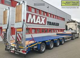 semi lowloader semi trailer Faymonville Maxtrailer 4-Achs-Tele-Semi-Auflieger mit hydraul. Rampen