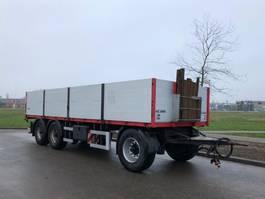 flatbed full trailer Kel-Berg kelberg 3 assige aanhanger 3 asser met alu borden 2014