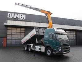 tipper truck > 7.5 t Volvo FMX 500 6x2 Euro 6 Kipper /Kraan 2014