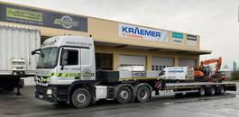 semi lowloader semi trailer Goldhofer 3-Achs-Tele-Semi Stepstar
