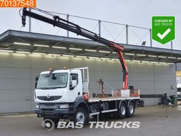 platform truck Renault Kerax 410 6X4 Big-Axle Euro 4 Palfinger PK16502 C 2009