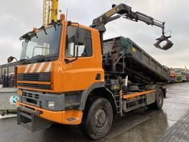 tipper truck > 7.5 t DAF CF 85.360 4X4 MANUAL FULL STEEL + PALFINGER PK11000 1996