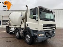 concrete mixer truck DAF CF 85.410 Manual-Gear    (9 M3) 2010