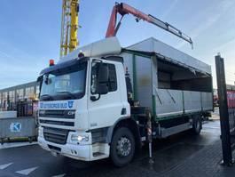 tilt truck DAF CF 75 3 PIECES - CF 75.310 4X2 + FASSI F65A.23 MET REMOTE 2011