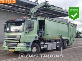garbage truck DAF CF 75.250 6X2 UNFALL Lenkachse EEV Hiab 144 E S-3 Hipro 2012
