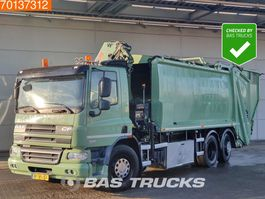 Müllfahrzeug DAF CF 75 250 6X2 UNFALL Lenkachse EEV Hiab 144 E S-3 Hipro 2012