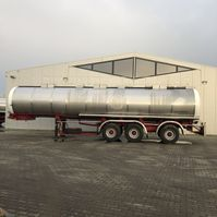 tank semi trailer semi trailer Dijkstra DRVOC18-28/12-28  32.000 Ltr  3 Kamer 1987