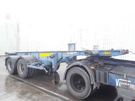 container chassis semi trailer ASCA Oplegger lames/steel 1997