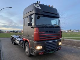 container truck DAF DAF XF 460 6x2 superspace Euro 5  AJK hook 2009