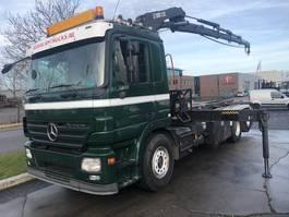 crane truck Mercedes-Benz ACTROS 2544L 6X2 + HIAB 220-4 MET REMOTE 2007