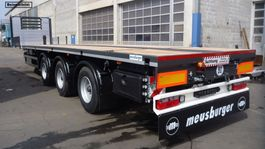 flatbed semi trailer Meusburger 3-Achs-Tele-Plateau-Auflieger zwangsgelenkt 2021