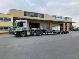 semi lowloader semi trailer Faymonville Maxtrailer 3-Achs-Tele-Semi mit hydr. Rampen zwangsgelenkt 2021