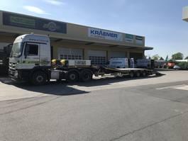 lowloader semi trailer Faymonville 3-Achs-Semi mit hydr. Ladebett und hydr. Rampen - Gitterrost