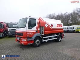 tank truck DAF LF 55 180 4X2 fuel tank 10.4 m3 / 3 comp 2006