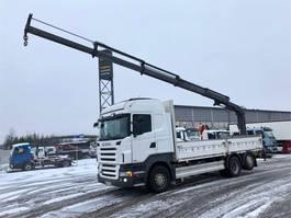 crane truck Scania R440 , Rahtilava 6400mm 2009