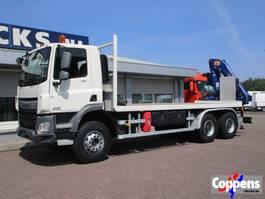 platform truck DAF CF 330 6x4 Open bak met kraan Euro 6 2014