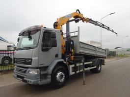 tipper truck > 7.5 t DAF 55 LF 220 / EURO 5 / EFFER 115 CRANE / LIER / WINCH / LOW KM / KEURING / TUV !! 2009