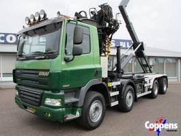 container truck Ginaf X 4241 S 460 8X4 Haakarm +Kraan Euro 5 2009