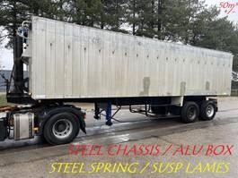 tipper semi trailer Kaiser 50m³ VOLUME KIPPER / BENNE GRAND VOLUME --- STEEL SPRING / SUSP. LAMES / BLATT --- STEEL CHASSIS ALU BOX / STAHL CHASSI ALU KIPPER / CHASSIS ACIER BENNE ALU 1987