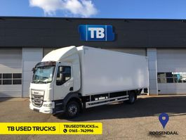 closed box truck DAF NEW LF210 11990 or 14T Daycab Autom Airco D'Hollandia 1500KG Junge Box 2020
