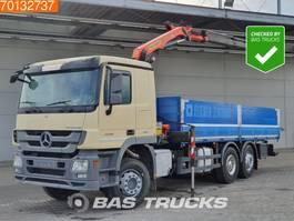 platform truck Mercedes-Benz Actros 2548 6X2 Kran Crane Palfinger PK 11001 Euro 5 Retarder 2012