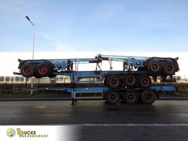container chassis semi trailer KAESSBOHRER 4 Trailors + 2x 3 axle - 40 ft + 2x 2 axle - 20 ft + BLAD-BLAD 1983