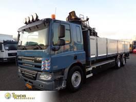 platform truck DAF CF 75 310 + PTO + Hiab 130R Crane 2010