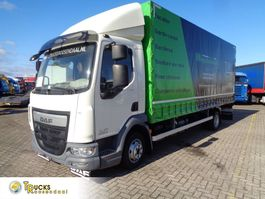 tilt truck DAF LF 45 180 + EURO 6 + MANUAL + 3 SEATS 2016