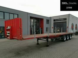 flatbed semi trailer Krone SDP 27 / BPW