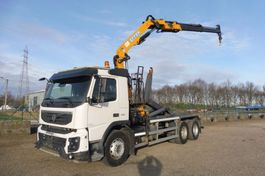 container truck Volvo FMX 450 - 6x4 - EURO 5 - I_SHIFT - LAADRAAN EFFER 13 T/M + CONTAINERHAAK -