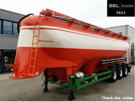 tank semi trailer semi trailer SPITZER F 2755/4 P / SILO / 55.000l/Lenka./Futterm./3 Kammern