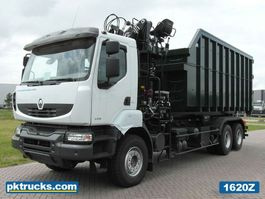 container truck Renault Kerax 440.35 HD 6x4 Container Hook Loader + Crane Hiab - NEW 2012